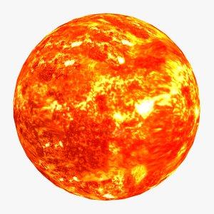 3D model sun