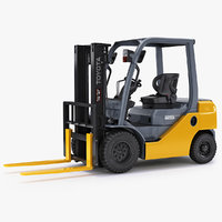 toyota forklift 8fd25 rigged 3D model