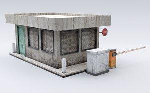 3D model booth guard