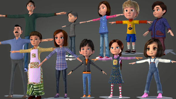 boy man characters 3D model