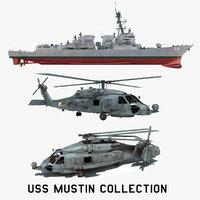 2 uss mustin ddg 3D model