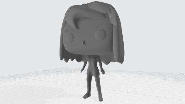 funko pop girl 3D model