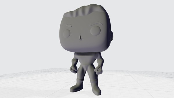3D funko pop superhero