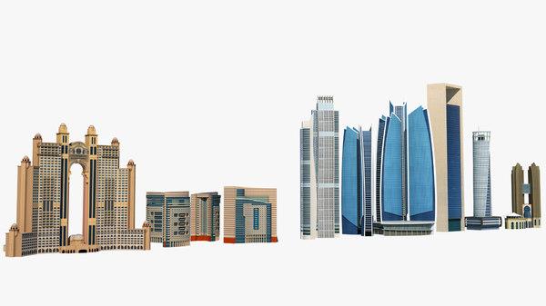 buildings abu dhabi 3D