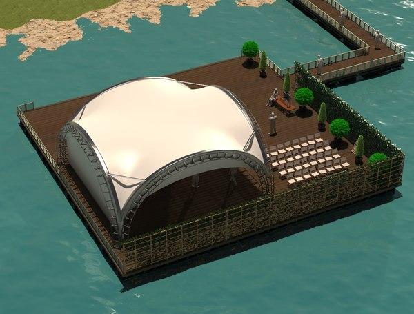 3D model pier water