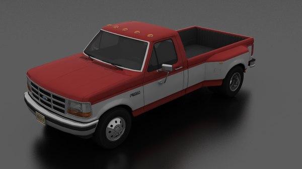 f-350 drw pickup 1992 3D model