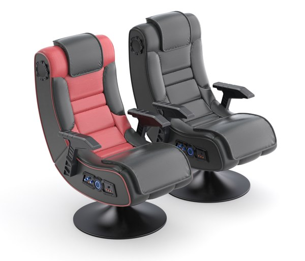 3D model leather gaming chair