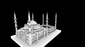 3D sultan mosque turkey