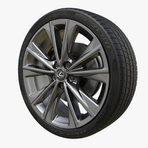 lexus es wheel 3D model