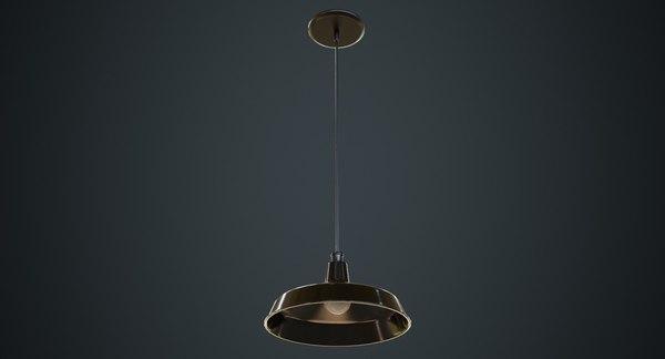 3D hanging lamp 2a model