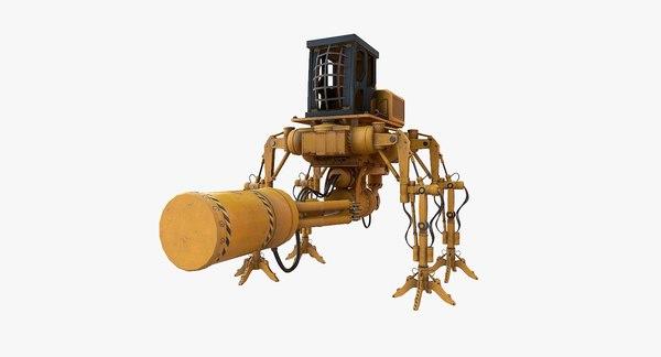 3D sci fi construction mech model