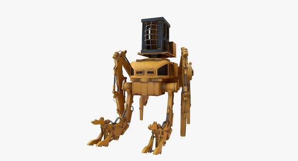 3D sci fi construction mech