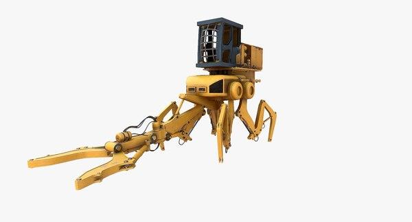 sci fi construction mech 3D model