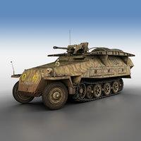3D sd kfz 251 7