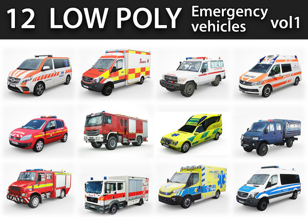 3D emergency vehicles