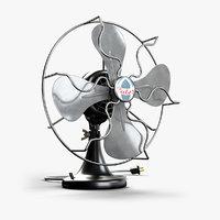 3D calor vintage fan model