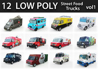 Low Poly Street Food Trucks