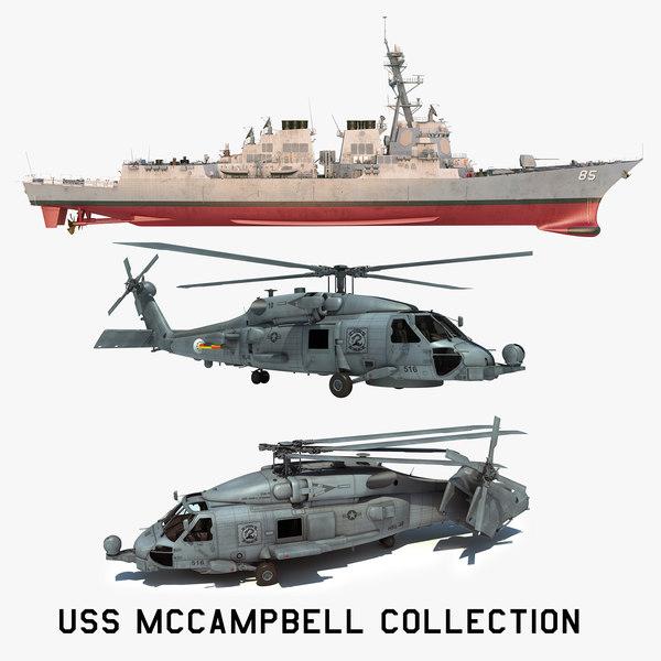2 uss mccampbell ddg 3D model