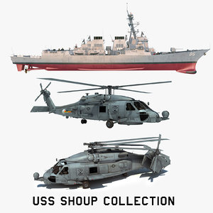 2 uss shoup ddg 3D model