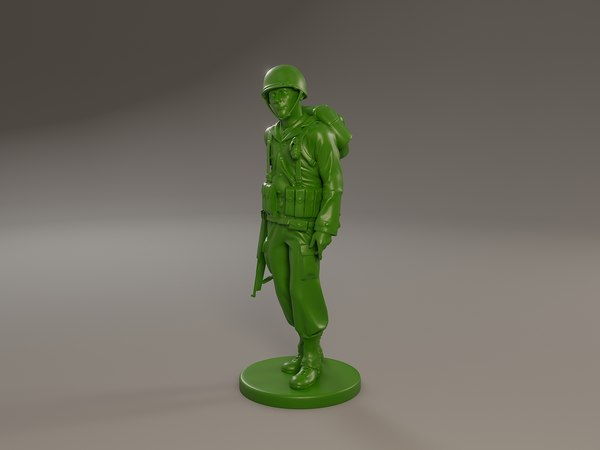 american soldier ww2 walking 3D model
