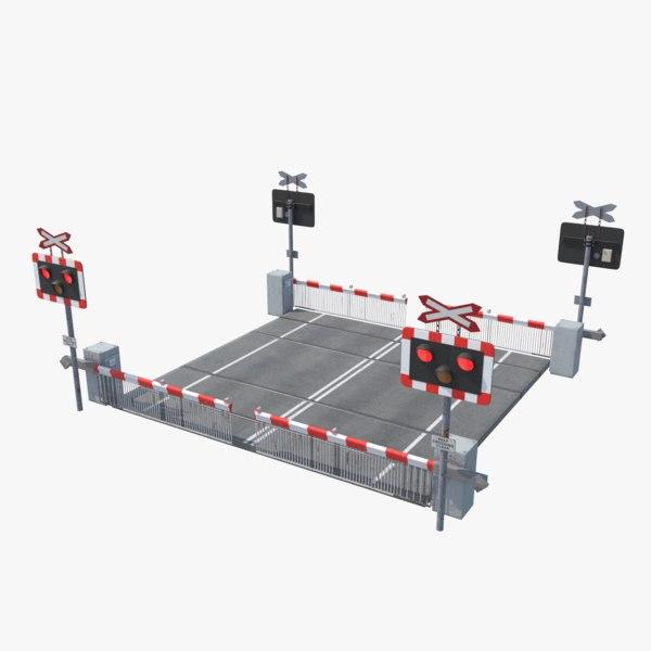 railroad crossing model