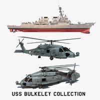 2 uss bulkeley 3D model