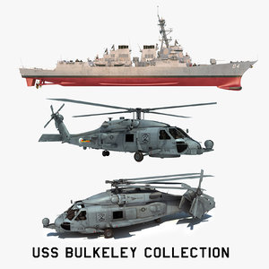 2 uss bulkeley 3D model