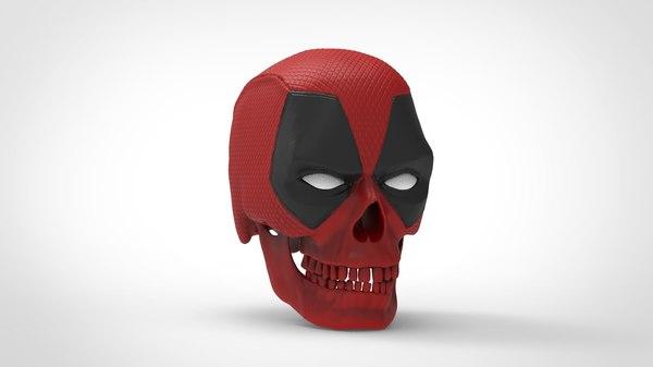 skull deadpool 3D model