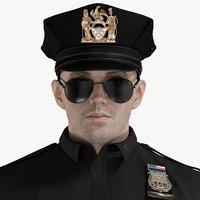 male police patrol 3D