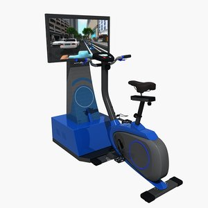 3D riding cycle vr simulator