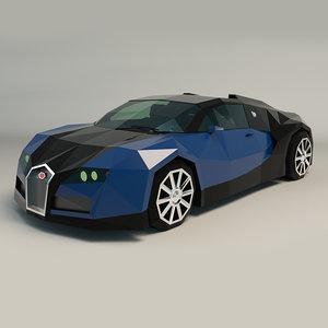 3D car sports ar model