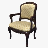 victorian arm chair 3D model