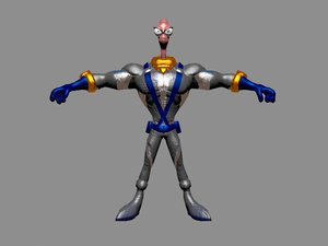 earthworm jim 3D model