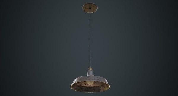 3D hanging lamp 2d model