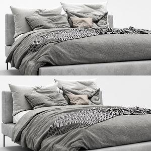 3D charles bed b italia