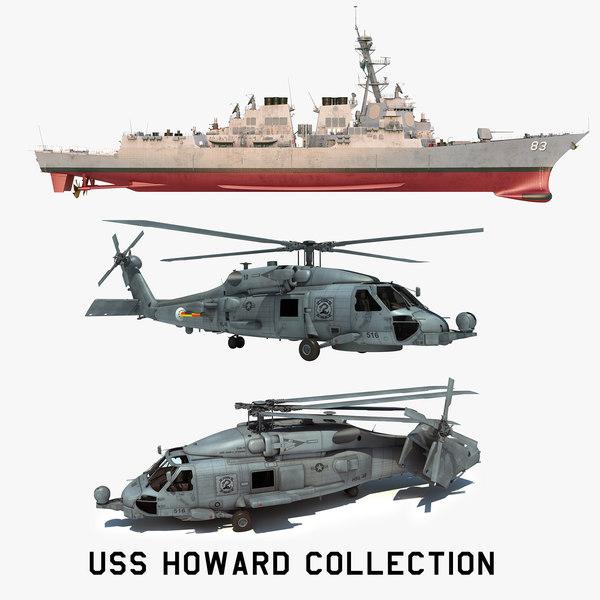 3D 2 uss howard ddg