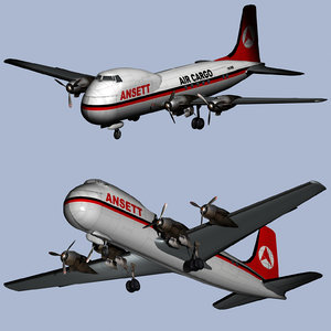 3D model air freight carvair