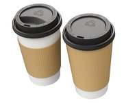 takeout coffee cup lid 3D