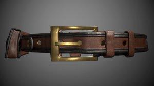 3D model belt removable bags