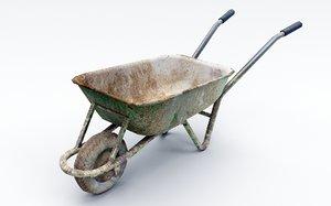 3D model wheel barrow wheelbarrow