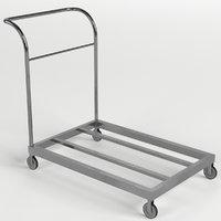 platform trolley cart 2 3D