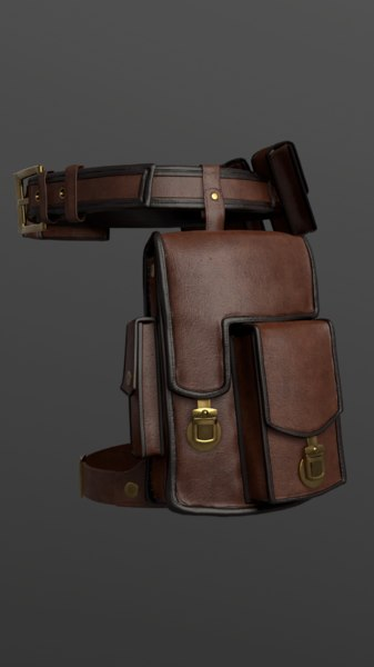 bag set belt 3D