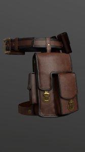 bag set belt 3D