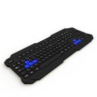 3D gaming keyboard
