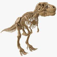 Tyrannosaurus Rex Skeleton 01 (HIGH POLY)