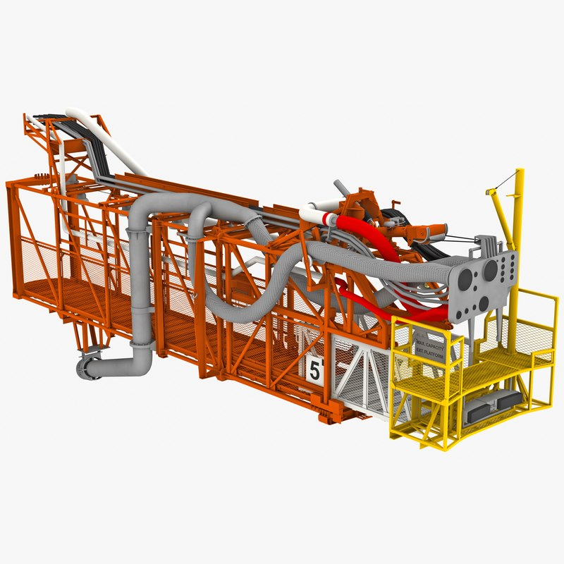 3D model swing arm 5 apollo