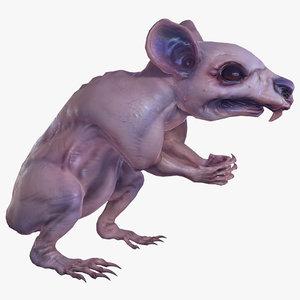 fanged mutant rat monster 3D