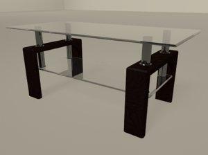 tablecoffeetablemayaglassglasstablementalray3dmodel model