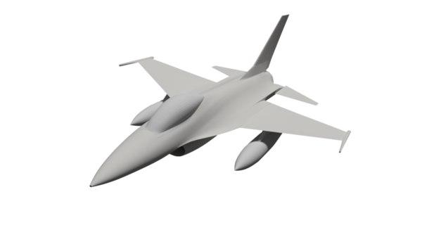 f-16 plane model
