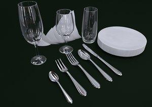 3D cutlery spoon fork